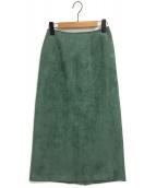 Ron Herman(ロンハーマン)の古着「エコスエードスカート」|グリーン