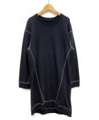 MM6(エムエムシックス)の古着「カバーステッチスウェットワンピース」|ブラック