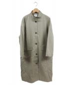 yuni(ユニ)の古着「ハイネックコート」|ベージュ