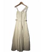 CASA FLINE(カーサフライン)の古着「フロントホックプリーツワンピース」|オフホワイト