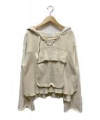 Ameri VINTAGE(アメリビンテージ)の古着「ビッグポケットフーディ」|アイボリー