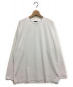 ATON(エイトン)の古着「ロングスリーブ Tシャツ」|ホワイト