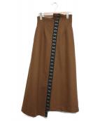 Ameri VINTAGE(アメリヴィンテージ)の古着「MANY CLASP SKIRT」|ブラウン