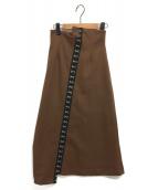 AMERI(アメリ)の古着「MANY CLASP SKIRT」|ブラウン