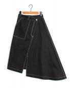 LE CIEL BLEU(ルシェルブルー)の古着「コントラストカラースカート」|ブラック