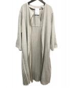 ELENDEEK(エレンディーク)の古着「リネンライクプリーツコート」|ベージュ