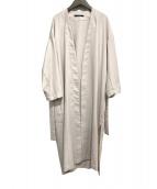 Liesse(リエス)の古着「スウィングリネンライクライトコート」|ベージュ