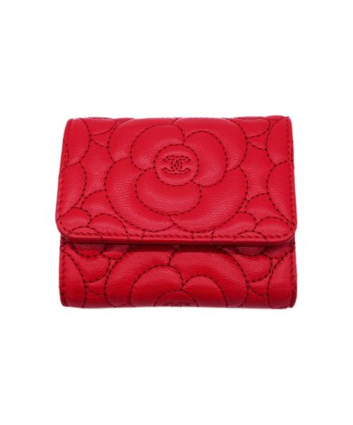 CHANEL(シャネル)CHANEL (シャネル) 3つ折り財布 レッド 23685435の古着・服飾アイテム