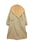 UNTITLED(アンタイトル)の古着「配色ロングコート」|ベージュ