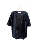 THE RERACS(ザ リラクス)の古着「シルク混ファープルオーバー」|ブラック