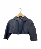 COMME des GARCONS(コムデギャルソン)の古着「製品染めシワ加工ショートジャケット」|ブラック