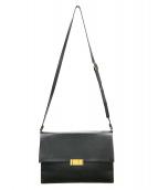 STELLA McCARTNEY(ステラ・マッカートニー)の古着「スクエアショルダーバッグ」|ブラック