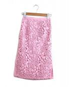 N°21 NUMERO VENTUNO(ヌメロヴェントゥーノ)の古着「ペンシルレーススカート」|ピンク
