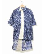 KENZO(ケンゾー)の古着「ドッキングワンピース」 ブルー
