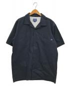 MAGIC NUMBER(マジック ナンバー)の古着「オープンカラーシャツ」 ネイビー
