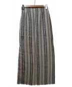 Plage(プラージュ)の古着「ドンゴロスマキシスカート」|ベージュ