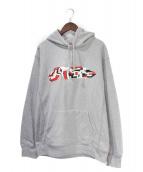Supreme(シュプリーム)の古着「Delta Logo Hooded Sweatshirt」|グレー