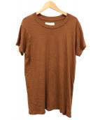 THE GREAT(ザグレート)の古着「USA製ダメージ加工Tシャツ」|ブラウン