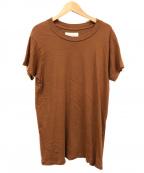 THE GREAT()の古着「USA製ダメージ加工Tシャツ」|ブラウン
