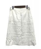 OLD ENGLAND(オールドイングランド)の古着「コットンダブルフェーススカート」|アイボリー