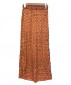AEWEN MATOPH(イウエン マトフ)の古着「総柄パンツ」 オレンジ