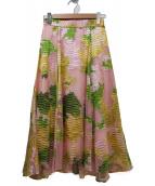 FRAY ID(フレイアイディー)の古着「ジャガードオパールスカート」|ピンク