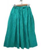 SACRA(サクラ)の古着「リネン混スカート」|グリーン