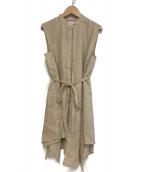 ENFOLD(エンフォルド)の古着「アシンメトリーフレアタンクブラウス」|ライトベージュ