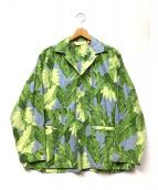 The Stylist Japan(ザスタイリストジャパン)の古着「リーフシャツジャケット」 グリーン