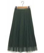 Diagram(ダイアグラム)の古着「リバーシブルスカート」|グリーン