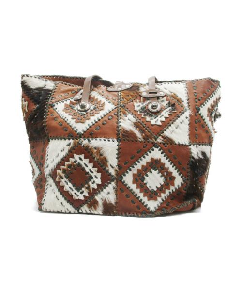 JAMIN PUECH(ジャマンピュエッシュ)JAMIN PUECH (ジャマンピュエッシュ) トートバッグ ブラウン サイズ:無表記の古着・服飾アイテム