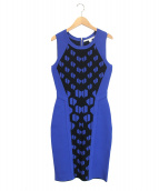 DIANE VON FURSTENBERG(ダイアンフォンファステンバーグ)の古着「Franca dress」|ブルー