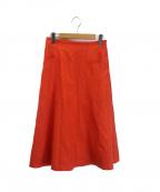 Unaca(アナカ)の古着「カラーサテンフレアースカート」|レッド