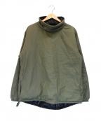 MONITALY(モニタリー)の古着「Reversible Mock Neck Pullover」|カーキ×ブラック