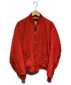G.V.G.V(ジーヴイジーヴイ)の古着「レースアップMA-1ジャケット」 レッド