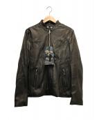 RUDE GALLERY BLACK REBEL(ルードギャラリーブラックレーベル)の古着「ライダースジャケット」|ブラウン