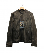 RUDE GALLERY BLACK REBEL(ルードギャラリー ブラックレーベル)の古着「ライダースジャケット」 ブラウン