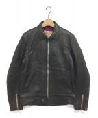 ADDICT CLOTHES(アディクト クローズ)の古着「CENTER ZIP JACKET」|ブラック