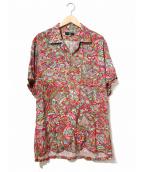Y's for men(ワイズフォーメン)の古着「象柄レーヨンアロハシャツ」|レッド