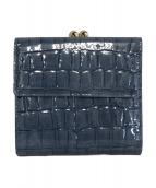 TOPKAPI(トプカピ)の古着「クロコ型押し2つ折り財布」|ブルー