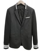 NEIL BARRETT(ニールバレット)の古着「バーシティジャケット」 ブラック