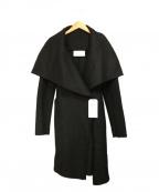 HARRIS WHARF LONDON(ハリスワーフロンドン)の古着「ダブルラップコート」|ブラック