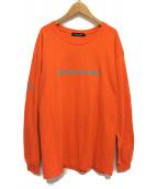 UNDERCOVER(アンダーカバー)の古着「プリント長袖Tシャツ」 オレンジ