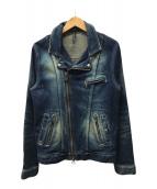 ()の古着「デニムライダースジャケット」|インディゴ