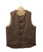 A vontade(アボンタージ)の古着「中綿ベスト」|ベージュ