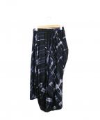 JURGEN LEHL(ヨーガンレール)の古着「転写プリント変形スカート」 ブラック