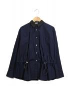 sacai luck(サカイラック)の古着「ドローコードシャツ」 ネイビー