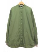JIL SANDER(ジルサンダー)の古着「バンドカラーシャツ」 グリーン