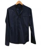 Junhashimoto(ジュンハシモト)の古着「バンドカラーシャツ」 ネイビー