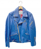 SEVESKIG(セヴシグ)の古着「ライダースジャケット」|ブルー